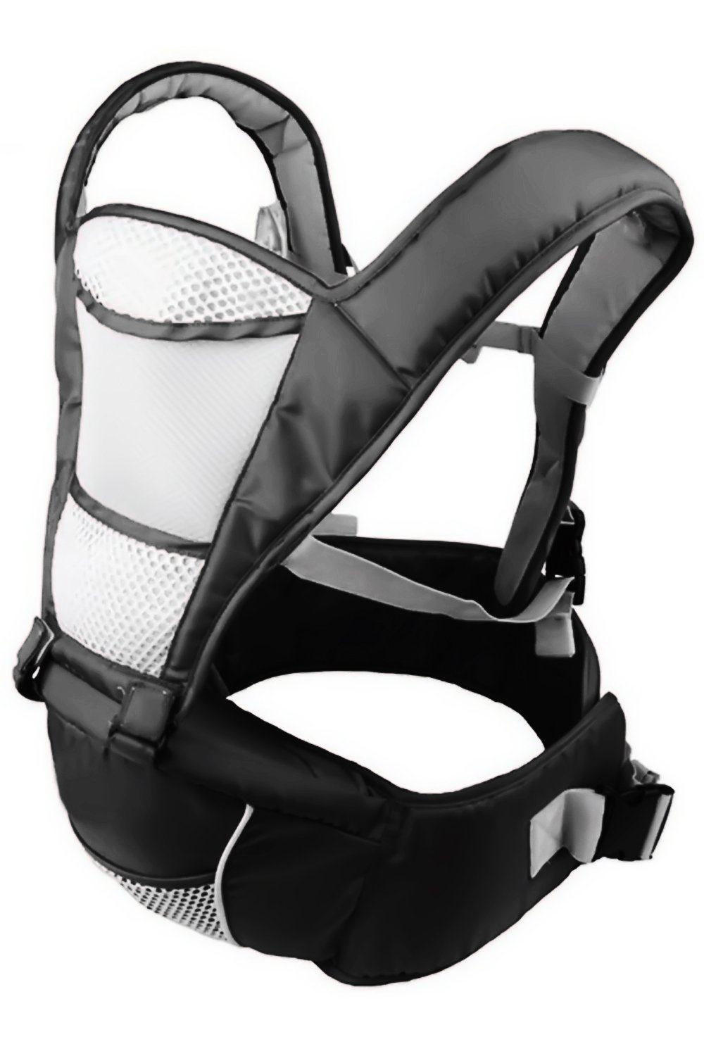 Baby Carrier Hip Seat Sling by NimNik Best Safe Backpack Carriers Back Pain Support (Pearl Black) NimNik ★ NO MORE BACK AND SHOULDER PAIN - NimNik offers an innovation in baby carrying fashion and quality for girls and boys! This Soft Structured Baby Carrier is not only versatile with four different carry positions, but perfectly comfortable for both you and your little one. That twined with unmatched durability makes NimNik Baby Carriers a popular choice in ergonomic baby carriers! ★ DESIGNED FOR STYLE AND COMFORT - With superior padding in our adjustable EXTRA LONG WAIST STRAPS (50 inches / 125 cms) and ergonomic lumbar support for you, say goodbye to backpain and other back, hip and shoulder related carrying issues. With the extremely ergonomic hip seat, you can rest assured that your little one is sitting pretty in style and comfort no matter how you carry! ★ PREMIUM COTTON FOR SOFT AND COSY FEELING - From front facing out and facing in, to hip, to back carry, you'll be comfortable, and so will children. Not every baby likes to be carried the same way, from 6 months and up. Our baby carrier comes with a wide range of comfortable carry positions to use as best suits the both of you, without the back pain after maternity. 2