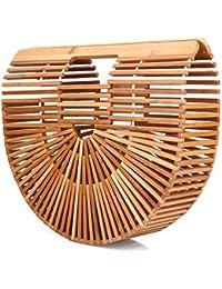 SSMY Designer Summer Bamboo Handbag For Women Handmade Large Tote Bag