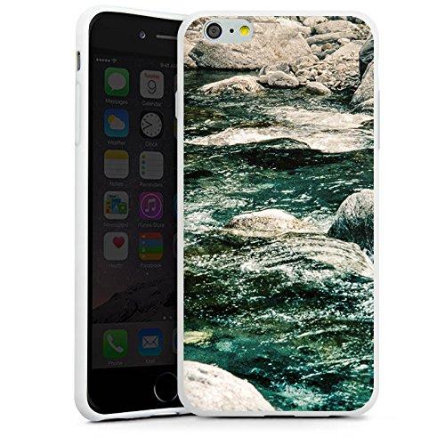 Apple iPhone X Silikon Hülle Case Schutzhülle Fluss Fels Steine Silikon Case weiß