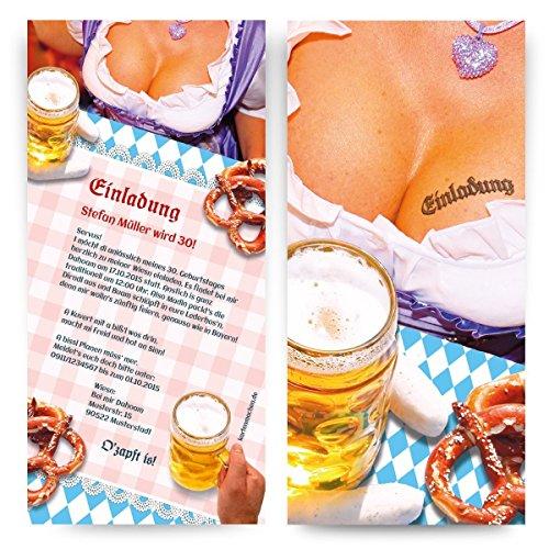 Einladungen (40 Stück) Oktoberfest Frühschoppen Hüttengaudi Geburtstag Einladungskarten