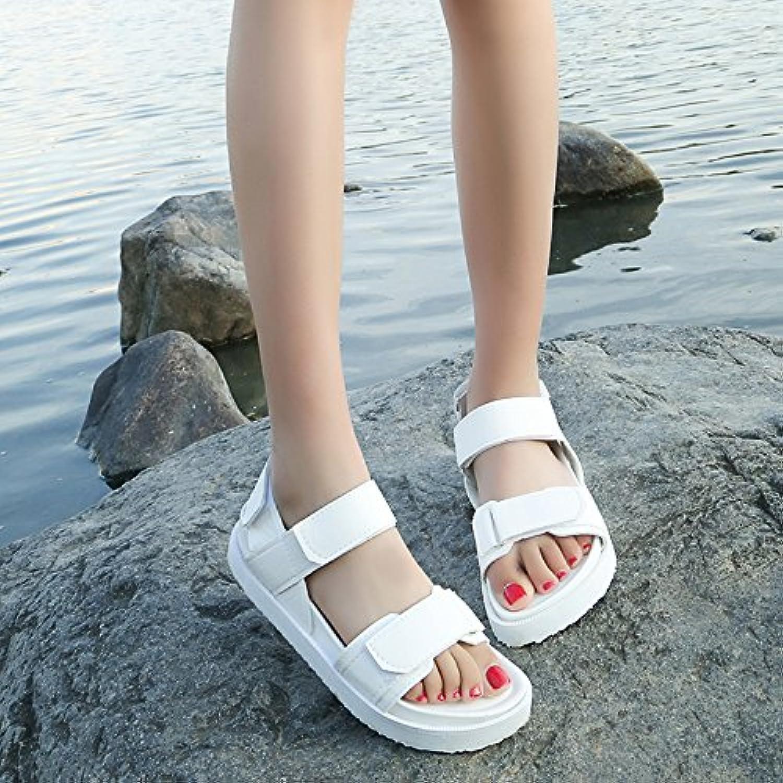 GAOLIM Sommer Damen Schuhe Biskuitteig Dicke Klettverschluss Minimalistisch Und Vielseitig Sandalen Frauen Flacheö