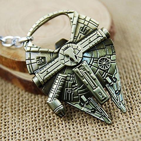 Star Wars Millennium Falcon Flaschenöffner Keychain Schlüsselanhäner bronzeantikfarben