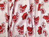 Minerva Crafts Floral Gewebe der Brokat Kleid Pink &