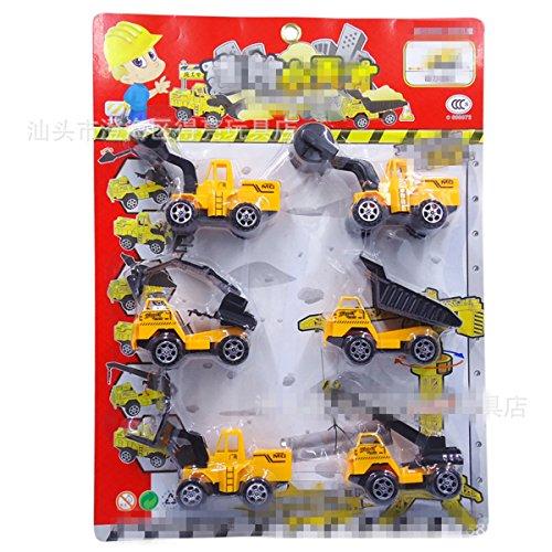 Genießen Spielzeug Modelle Fahrzeuge Auto Verkehrsmodelle Baufahrzeuge Kunststoff Spielzeugauto für Kinder ab 3 Jahren 6 Pcs