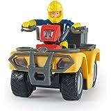 Smoby S.A.–109257657002, Sam Il Pompiere,Veicolo bambino, Quad Mercury, + 8 Accessori, + 1 Figurina inclusa