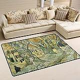 FAJRO Van Gogh The Road Flicken Polyester Schuhe Schaber Teppich Bereich Teppich Eintrag Way Fußmatte Multipattern Fußmatte Fußmatten Home Dec-Anti-Rutsch, Polyester, 1, 72 x 48 inch