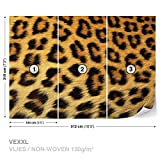 FORWALL DekoShop Vlies Fototapete Tapete Vliestapete Leopard Muster AD191VEXXL (312cm x 219cm) Photo Wallpaper Mural