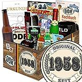 Original seit 1958 | Geschenk Idee Mann | Geschenk Box | Original seit 1958 | Männer Paket | Geschenke zum 60 Geburtstag Männer | GRATIS DDR Kochbuch