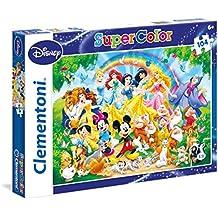 Clementoni 27955 - Puzzle SuperColor Disney Classic, 104 Pezzi