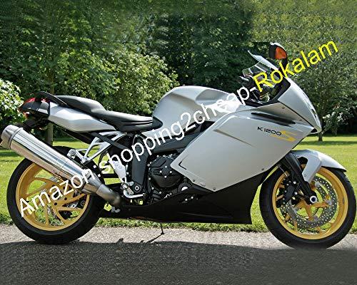 Kit carrosserie pour moto 05 06 07 08 K1200S 2005-2008 K 1200S K1200 S ABS Carrosserie de rechange Noir Argenté