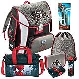 Baggymax Simy Spider Spinne Spiderman Leicht-Schulranzen Set 7 tlg. Hama mit SCHULSPORTTASCHE, BROTDOSE und TRINKFLASCHE
