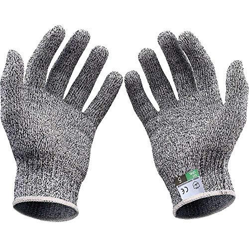 2 Paar schnittfeste Handschuhe für Kinder Schutzstufe 5, Lebensmittelqualität, Geeignet zum Kochen, Gärtnern, Schnitzen, Sport im Freien - Sport Im Freien