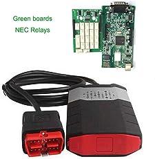 VCI OBD2 neue Diagnose-Tool Dual Green Boards Scan-Gerät für Auto, schwarz & weiß & rot