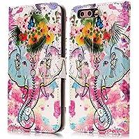 Cozy Hut Huawei P8 Lite Hülle,Huawei P8 Lite Leder Wallet Tasche Brieftasche Schutzhülle, 3D Elefant Painted Muster... preisvergleich bei billige-tabletten.eu