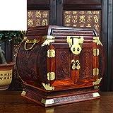 caja-de-la-joyaTocador-joyeromuebles-de-madera-roja-y-adornosArtes-y-oficios