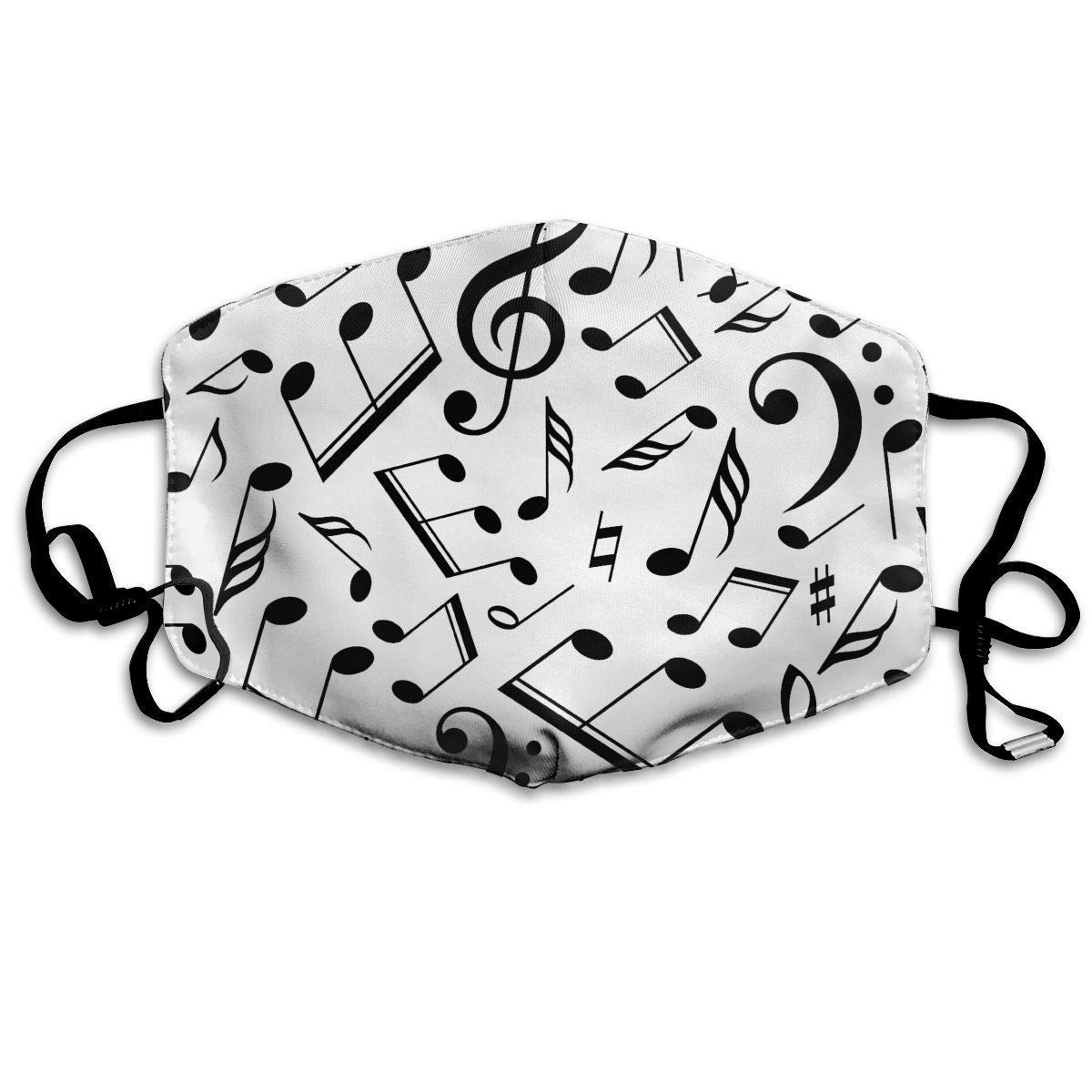 Daawqee Mascarillas, Anti Dust Pollution Mask Musical Note Print Reusable Washable Earloop Face Mouth Mask for Men Women