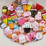 Zhhlaixing Decorazioni In Resina Resin Decorations for Mobile Phone Hairpin Stationery DIY Toys [ Ice Cream Model 20 Pcs No Glue ]Plastic Toys Sandbox