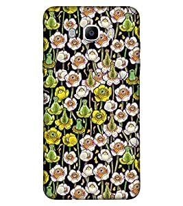 For Samsung Galaxy On8 floral pattern ( yellow flower, flower, floral pattern, nice flower, pattern ) Printed Designer Back Case Cover By Living Fill