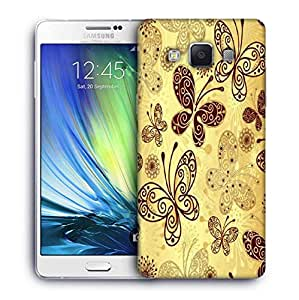 Snoogg Butterfly cream Designer Protective Back Case Cover For Samsung Galaxy ON5