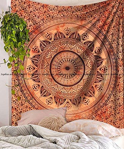 Tapisserie, Hippie-Mandala Bohemian Wandteppiche, Indian Decor, Wohnheim Psychedelic Wandteppich für Ethnic Decorative Art (Multi) ()