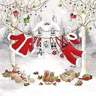 Ambiente servilletas de papel Almuerzo/Fiesta/CA. 33x 33cm línea de ropa–Navidad–Ideal como un regalo y decoración