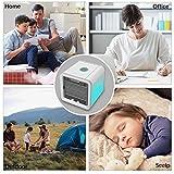 Mobiles Klimageräte Mini Tragbare Klimaanlage Luftkühler Air Cooler, 3 in 1 Klimaanlage Ventilator, Luftbefeuchter und Luftreiniger [USB Anschluß, Einstellbare 7 Stimmungslichter, 3 Windgeschwindigkeit] - 6