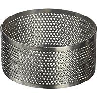 Lacor 68547 - Molde aro Redondo Perforado, 7 x 3, 5 cm, Inoxidable