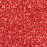 Schnee Flocken auf Rot führenden Marke 100% Baumwolle Fat