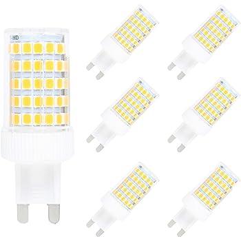 6X Regulable 10W G9 Base 86-smd 2835 LED luz bombilla 10W, 3000K (