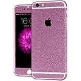 Heartly Sparking Bling Glitter Crystal Diamond Protective Film Whole Body Phone Skin Sticker For Apple iPhone 6 / 6S 4.7 Inch - Cute Pink