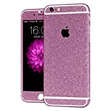 #9: Heartly Sparking Bling Glitter Crystal Diamond Protective Film Whole Body Phone Skin Sticker For Apple iPhone 6 Plus / 6S Plus 5.5 Inch - Cute Pink