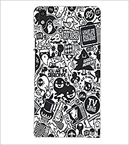 PrintDhaba Graffiti D-5188 Back Case Cover for HUAWEI ASCEND P6 (Multi-Coloured)