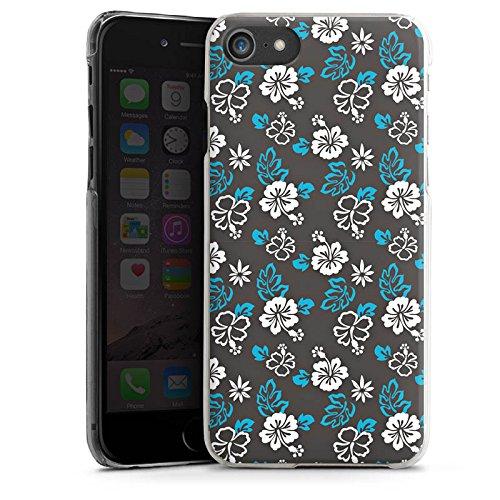 Apple iPhone X Silikon Hülle Case Schutzhülle Flower Retro Muster Hard Case transparent