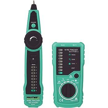Incutex Wire Tracker Kabelfinder, RJ45/RJ11 Finder, für Telefonkabel ...