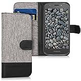 kwmobile Motorola Moto E5 Play Hülle - Kunstleder Wallet Case für Motorola Moto E5 Play mit Kartenfächern und Stand