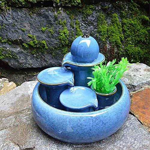 LONG Kreative Dekoration Keramik Brunnen Wasser Handwerk Wohnzimmer Home Water View Luftbefeuchter...