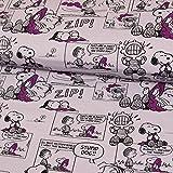 Stoffe Werning Baumwwolljersey Lizenzstoff Peanuts Comic Snoopy & Linus flieder - Preis gilt für 0,5 Meter