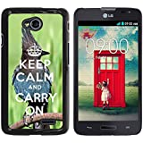 Print Motif Coque de protection Case Cover // Q01014393 keep calm and carry on 682 // LG Optimus L70 MS323