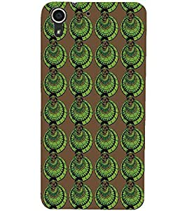 PrintDhaba Pattern D-5427 Back Case Cover for HTC DESIRE 728 (Multi-Coloured)