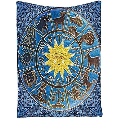 Teli Mare , Ouneed® Zodiaco Oroscopo Tapestry Wall Hanging Spiaggia di Occultamento dello Swimwear del Vestito di Bagno,145*180cm(W*L)