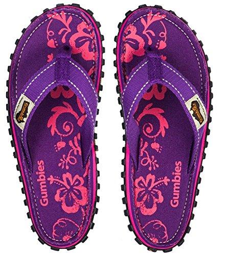 GUMBIES Zehentrenner Unisex Purple Hibiscus