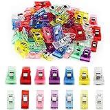 Ipow 100 pcs Pinces de Couture Multicolores en Plastique/ Clips Pinces pour Matelassage/ Couture/ Patchwork/ Artisanat - Faire les Ourlets/ Assembler les Tissus - Deux Tailles (70M+30S)