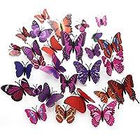 Pegatinas de pared,GKONGU 36 Piezas 3D Adhesivos de Mariposas de Impermeable Para Decoración de la Pared Para Casa Habitación-Imán / Pegatina