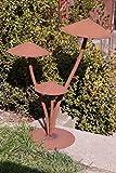 Edelrost Pilz 3D Garten Terrasse Herbst Dekoration Pilzkappe Skulptur Rost