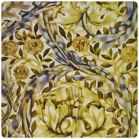 3dRose LLC 8 x 8 x 0.25 Inches Mouse Pad, Vintage 1876 Pattern by Morris and Company African Marigold