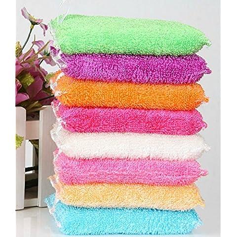 Lavado de cocina de algodón limpiar la esponja cepillo limpiador cocina moho limpieza herramienta Borrador-azul