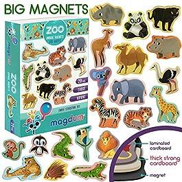 MAGDUM Calamite Bambini Animali ZOO – GRANDI calamite frigo bambini realistiche – Magneti per ba