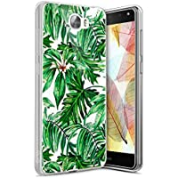 Funda Huawei Y5 II ,Funda Silicona Gel Carcasa Ultra Delgado Flexible Tpu Goma Silicona Protector Flexible Cover Case Estuche Protective Caso para Huawei Y5 II ,Hoja de Plátano