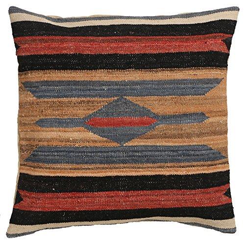 Vente, faite à la main authentique Kilim Housse de coussin Taie d'oreiller style vintage, 58 cm x 58 cm/55,9 cm/55,9 cm (1326) Liquidation de stock