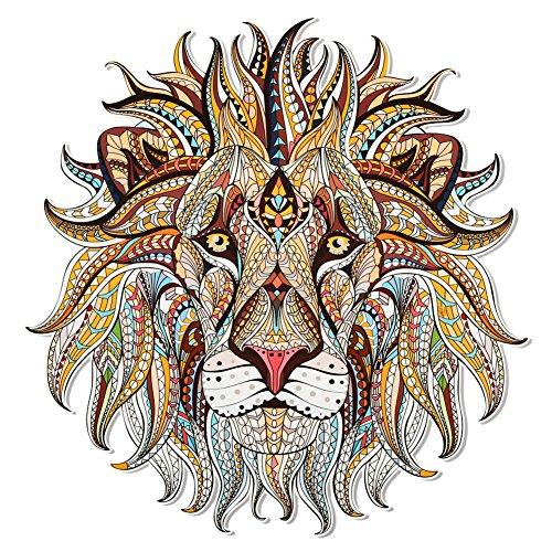 ZHOUBA - Parche adhesivo 3D con diseño de león